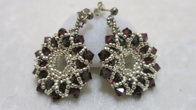 Image of earring crystal star-Rose