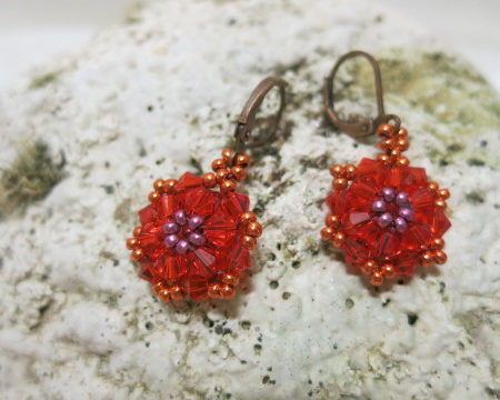 Galery Image of earring star in red