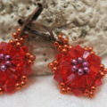 Image of earring star in light red