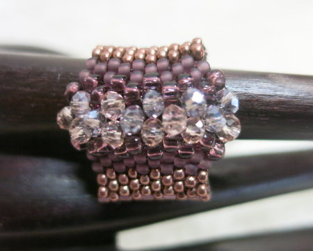 photo of dark rose accent ring-horizontal