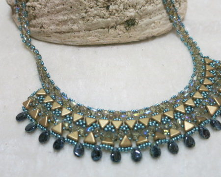 Statementkette gold-mint Front