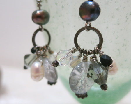 earring hanging beads nearby