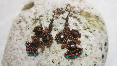 earring Ethno on stone