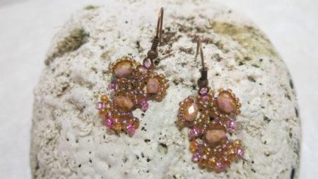 earring rose Ethno frontside