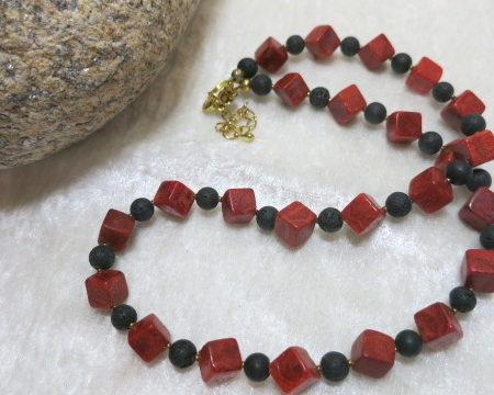 necklace lava coral