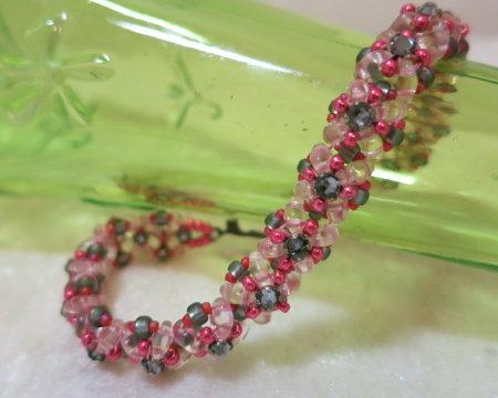 bracelet rosy grey with box lock