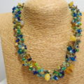 knotted necklace wintercolor blue yellow