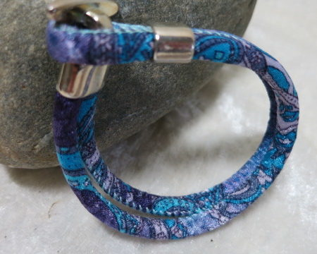 cord bracelet in blue lateral