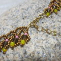 necklace with warm colours mohican closure
