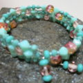 bracelet in turquoise laying on stone