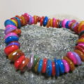 bracelet with colorful shellbeads laying