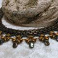 necklace aztek brown copper detailled