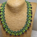 necklace collier limegreen purple elegant on basket bust