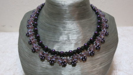 necklace elegant collier rosy black purple