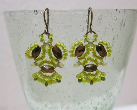 earring pendant yellow hanging