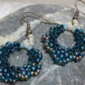 earring creole light blue detailled view