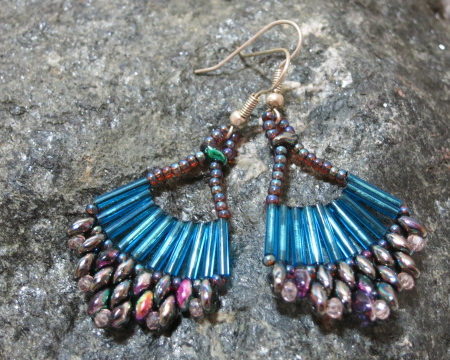 earring turquoise Malaga laying side by side