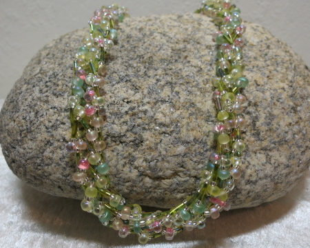 braided necklace velvetgreen colored