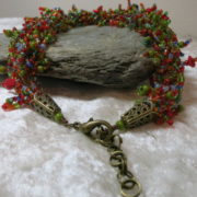 necklace collier colorful abundant fall autumn colors closure in detail