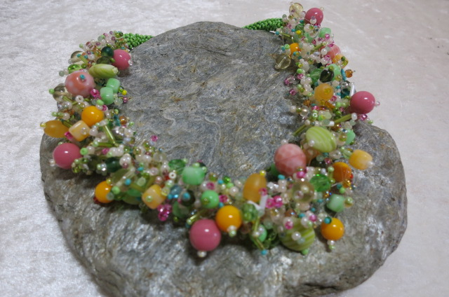 necklace abundant in spring colors